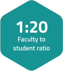 One to twenty faculty to student ratio at SAIT